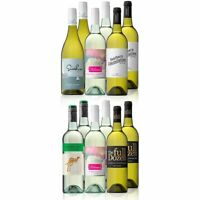 AU Mixed White Wine Carton Featuring Yellow Tail Pinot Grigio (12 Bottles)
