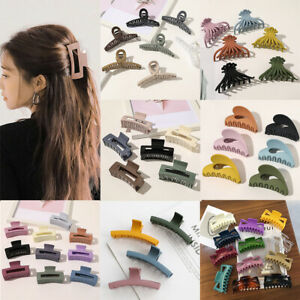 Large Size Hair Claw Hair Clips Women Marbling Acrylic Hair Crab Clamp Hairpins