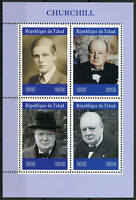 Chad 2019 MNH Winston Churchill 4v M/S Politicians Famous People Stamps