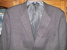Burberry London Gray Plaid 100% Wool Sport Coat Blazer sz 43 Long Burberry Blue