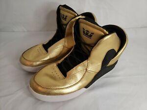 Sz 12 Supra Lil Wayne Spectre Chimera Shoes Men Athletic SP51006 Gold Tops