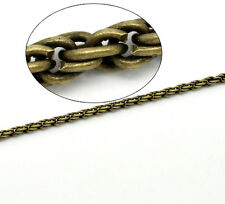 2mtr QUALITY BRONZE MEDIUM ROPE CHAIN(unfinished) Necklace~Bracelets~Charm (ch2)