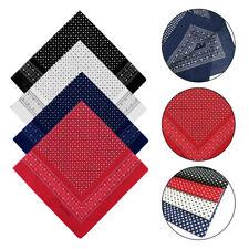 (Fashions Large 100% Cotton Polka Dot Bandana Scarf Neck Wrist Tie New