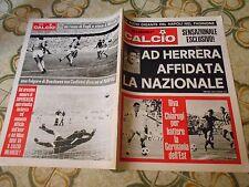 CALCIO RIVISTA SUPERCALCIO ANNO I N10 POSTER NAPOLI 18-11-1969  MODENA CATANZARO