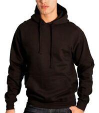 Plain Black hoodies Heavyweight Pullover Fleece Cotton Hoodie