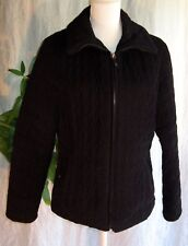 Women's PACIFIC TRAIL OUTDOOR WEAR BLACK JACKET size Medium Soft Quilted  C3