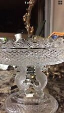 Waterford Crystal fruit Bowl with sea horses as stands heavy piece. Sale