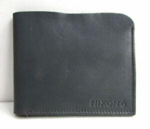 Nixon Shores Bi-Fold Wallet (Dark Grey / Grey) RRP $89.99 Leather Mens New In Bo