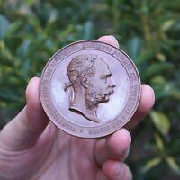 1887 Austria - Empire Francis Joseph Ministry of Trade Vienna Bronze Medal RARE