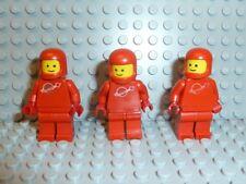 LEGO® Space Classic 3x Figur Astronaut rot ohne Airtank 1968 918 6930 6929 K240