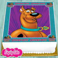 PRECUT EDIBLE ICING 7.5 INCH SCOOBY DOO BIRTHDAY CAKE TOPPER NS1573