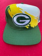 New listing Green bay packers logo athletic vintage splash hat pro line authentic snap back