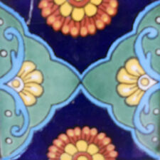 #C095) Mexican Tile sample Ceramic Handmade 4x4 inch, GET MANY AS YOU NEED !!