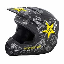 FLY 2019 Elite Guild Motorcross Enduro Helmet - Rockstar Black Charcoal Yellow
