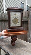 large walnut wood bracket clock/statue clock  display shelf