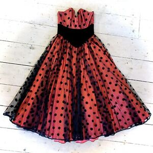 Vintage Couture 1970's Full Skirt Ballgown Size 6/8