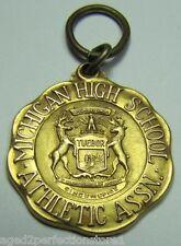 Orig 1931 1st Pl Michigan High School Assn State Swimming Meet Medal Josten 1/10