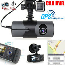 "2.7"" Dual Lens HD 1080P Car DVR Dash Camera Video Recorder Cam G-Sensor GPS HOT!"