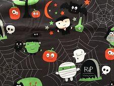 Fq halloween spooky fantôme spider dracula frankenstein tissu citrouilles stars