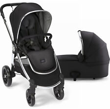 Mamas & Papas Ocarro Reversible Seat Baby Stroller with Bassinet Black New 2017