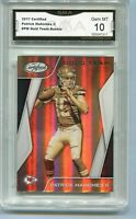 2017 Patrick Mahomes Certified Gold Team Rookie Gem Mint 10 #PM