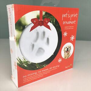 Holiday Pet Paw Paw Print Xmas Tree Ornament DIY Kit Memory Dog Cat Lover Gift