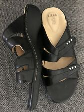 ZIERA-BETA black slip on sandals 39-NWOT