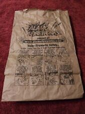 Alamo Fireworks Paper Shopping Bag Collectible Brown Paper Bag