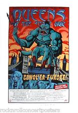 Queens Of The Stone Age European Tour 02 Rare Concert Poster S/N Ap Hampton