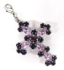 Versilberte Modeschmuck-Halsketten & -Anhänger mit Kristall Kreuz