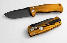 Messer LionSteel SR-2 Orange Black Sleipner Vollmetall Jagdmesser Outdoor SR2AOB