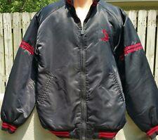 Vintage Shaq Black Nylon Jacket M Quilted Basketball Dunking Logo
