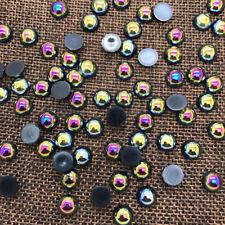 NEW 6mm 100PCS Black Half Round Bead Flat Back Pearl Scrapbooking Embellishment