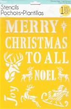 Darice Craft Stencils Christmas Quotes Joy Noel 8.5x11 Reusable Template Mask