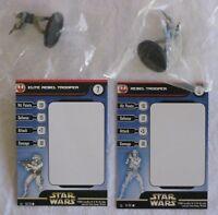 Star Wars Miniatures REBEL STORM 2 x REBEL TROOPERS (C) Figures - New & Sealed