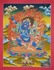 "29.25"" x 22.5"" Vajrapani Tibetan Buddhist Thangka Scroll Painting Patan Nepal"