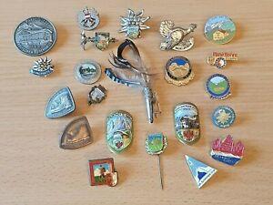 Konvolut Anstecknadel Pins Wandernadel Hut-Stock-Souvenir Ehren-Wanderabzeichen