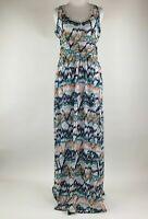 Mountain Hardwear Women Multi Color geometric Print Sleeveless Maxi Dress sz M