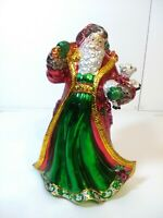 """Christmas 11"""" Shiny Santa Claus Music Box Figurine. Plays """"OH CHRISTMAS TREE"""""""