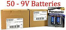 50 Wholesale 9V Panasonic 9 Volts Batteries Battery Super Heavy Duty Lot
