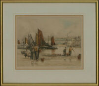 Henry George Walker (1876-1932) - Early 20th Century Etching, Harbour View