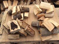 Mixed box large BBQ smoker wood logs chunks Alder, Cherry, Oak, Birch