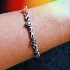 Silver Love Infinity Bracelet Beautiful Gift Present Valentines Birthday