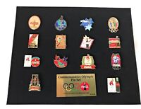 Olympic Games Summer 1996 Atlanta Coke Coca Cola Commemorative 14 Pin Set Framed