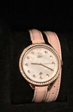 Watch Ladies JBW Pink Leather wrap around band.