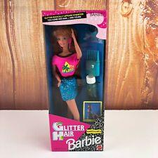 Rare Vintage 1993 Glitter Hair Barbie Red Hair by Mattel NIB VTG NEW