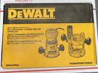 DeWalt DW618PKB 2-1/4HP EVS Fixed Base / Plunge Router Combo Kit NEW