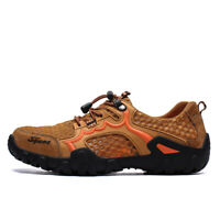 Mens Breathable Outdoor Mesh Climbing Water Shoes Hiking Non-slip Waterproof New