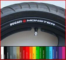 8 x Ducati Monster RUEDA LLANTA Adhesivos Calcomanías - 620 695 600 800 821 996 1000 1100