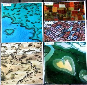 5 Earth from the AIR Square Blank Cards Camel India Heart France Voh Morocco Rug